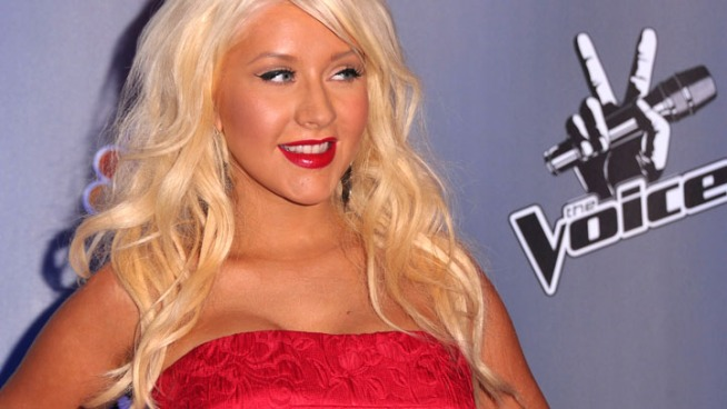 Singer Christina Aguilera, coach on NBC's