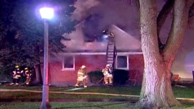 Two people died after an extra-alarm fire early Saturday in La Grange. Sharon Wright reports for NBC News at 5 p.m. on Saturday, Dec. 8, 2012.