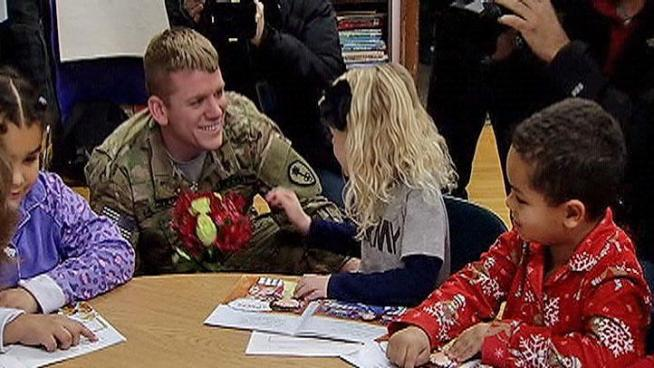 Staff Sergeant John Lagiglia was able to give his family a Christmas present a little early this year.