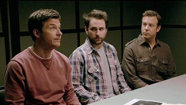 Jason Bateman, Charlie Day and Jason Sudekis star as three friends who decided to kill their bosses. Opens July 8.