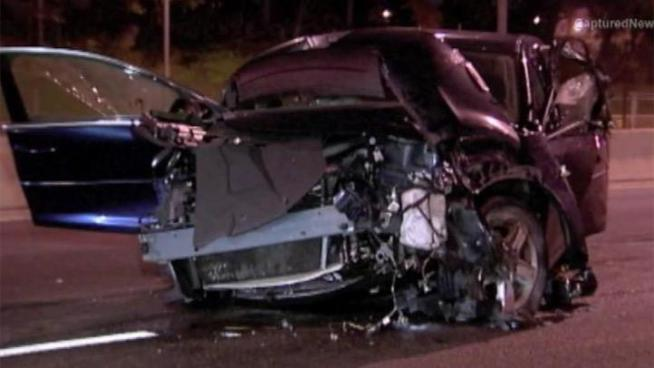 A 21-year-old dies after smashing his car into the median wall on the Eisenhower Expressway.
