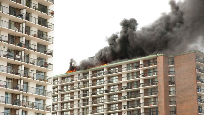 No Injuries in High-Rise Fire
