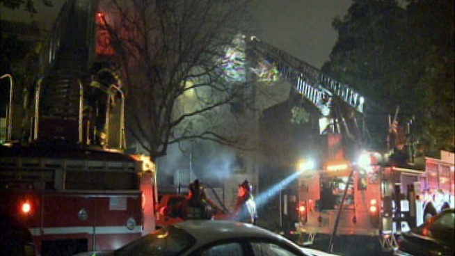 Two Firemen Injured Battling Garfield Park Fire