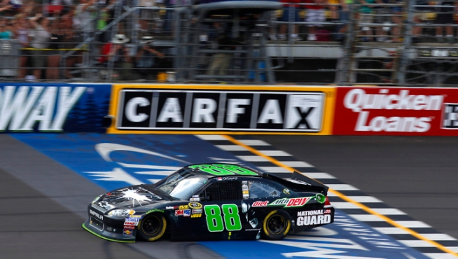 Earnhardt Jr. Ends Drought With Win in Michigan