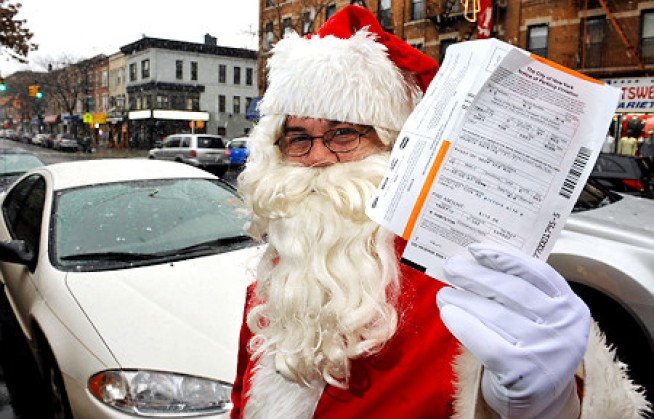 NYC Santa Gets a Wrap Sheet