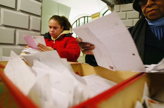Letters to Santa Pile Up at Post Office
