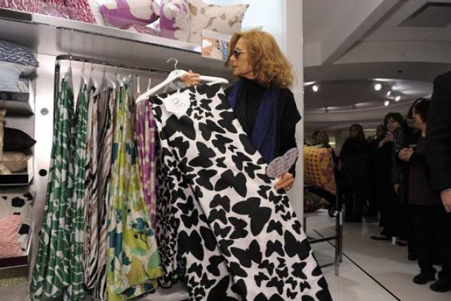 Diane Von Furstenberg's Home Collection Debuts in Chicago