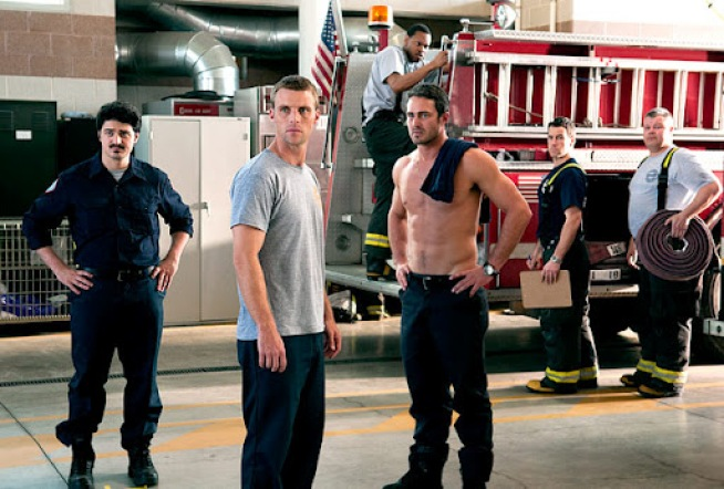 Cast of new NBC show trains with local firefighters, strives to keep show authentic.