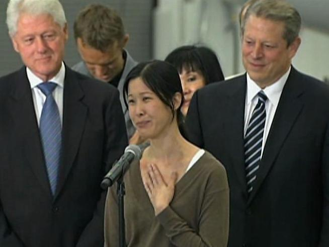 Laura Ling talks about the moment she and Euna Lee saw Bill Clinton waiting for them in North Korea.