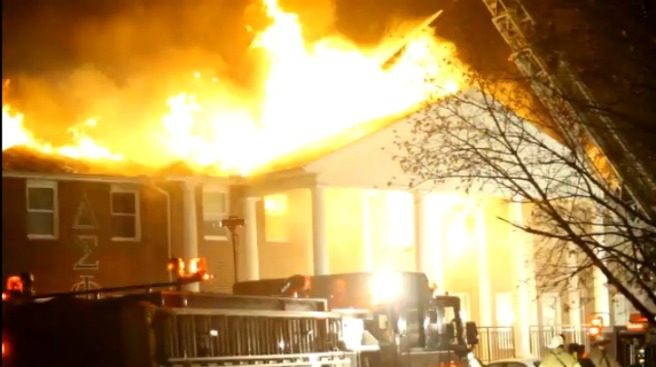 Fire Engulfs ISU Fraternity House