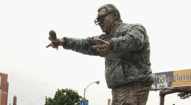 Holy Cow! Harry Caray Statue Relocated