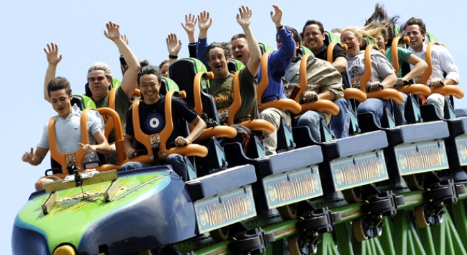 Six Flags On Financial, Job Rollercoaster