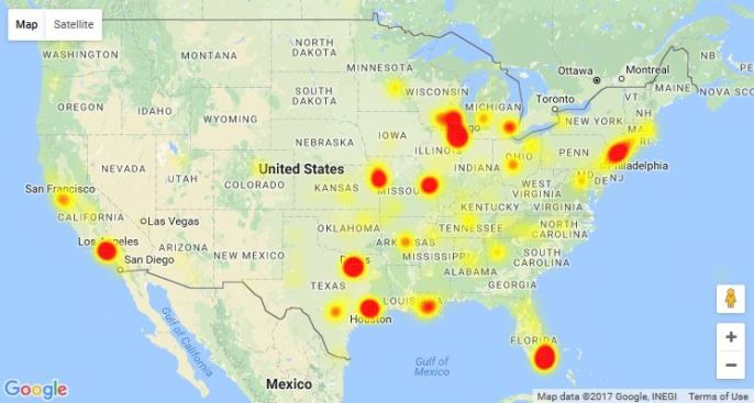 AT&T Service Restored After Nationwide Outage - NBC Chicago on map indiana and chicago, map of kentucky and ohio, map of kentucky and major cities, map of kentucky and north carolina, map of kentucky and lexington, map of kentucky and united states,