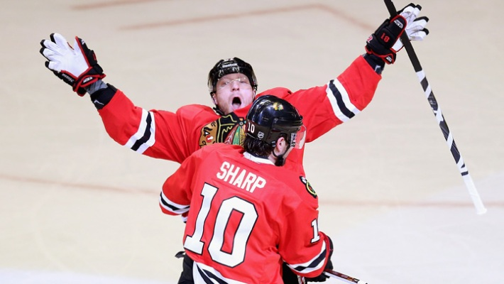 Blackhawks Playoff Action: Detroit Series