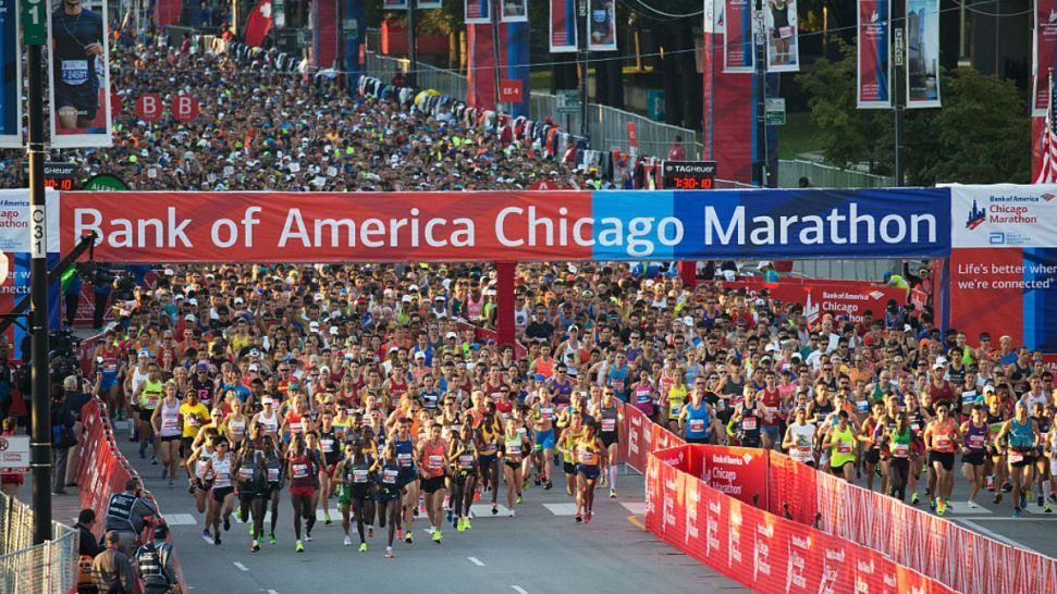 Thousands of Runners Take to the Streets in the 39th Annual Bank of America Chicago Marathon