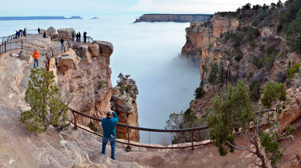 Grand Canyon Filled With Clouds in Rare Weather Phenomenon