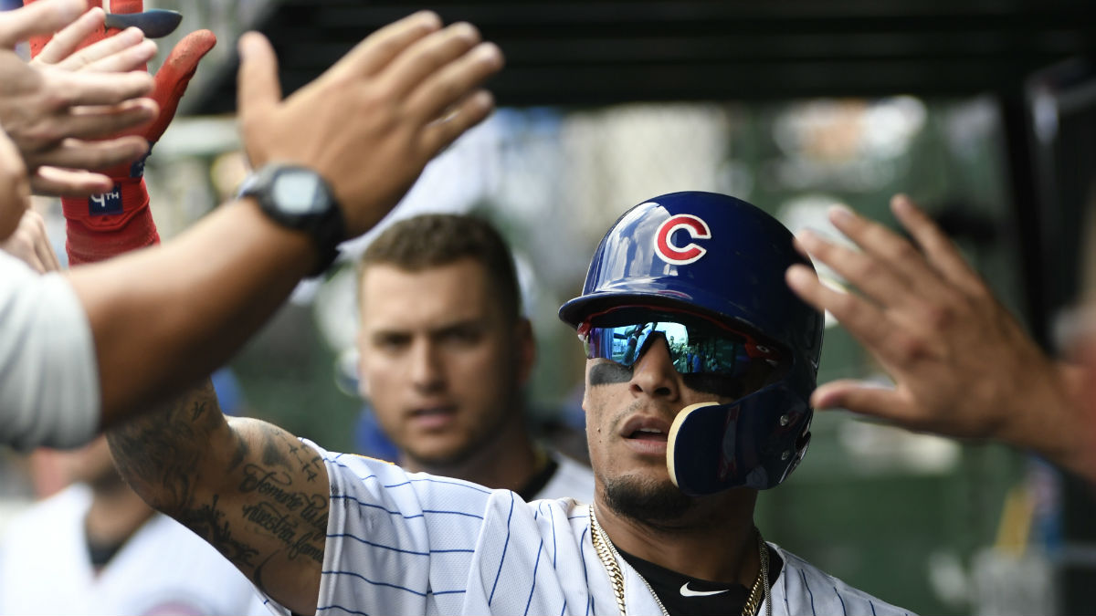 Baez, Rizzo Wear Uniforms Home From Washington
