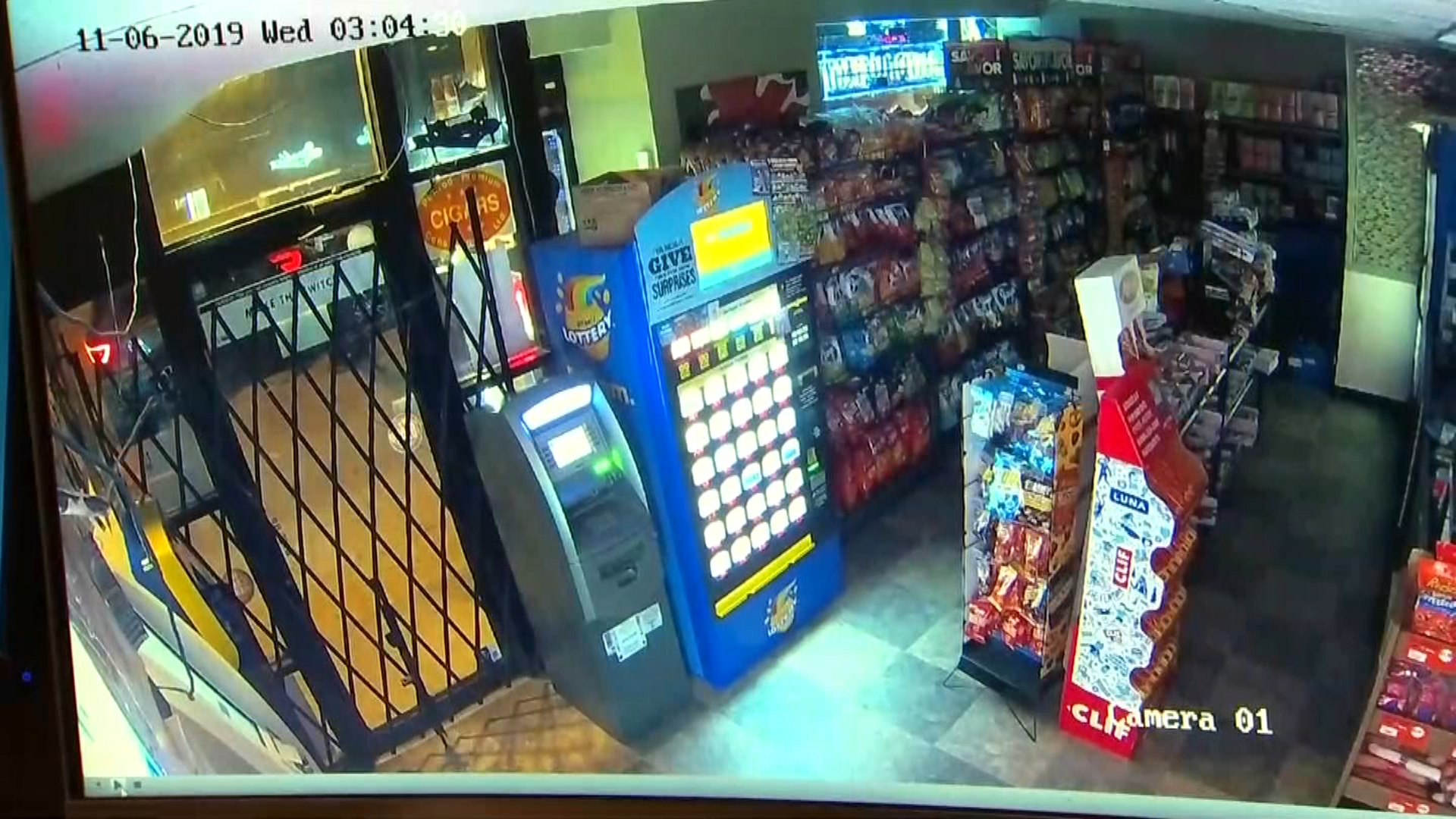 Surveillance Video Captures Group Stealing ATM