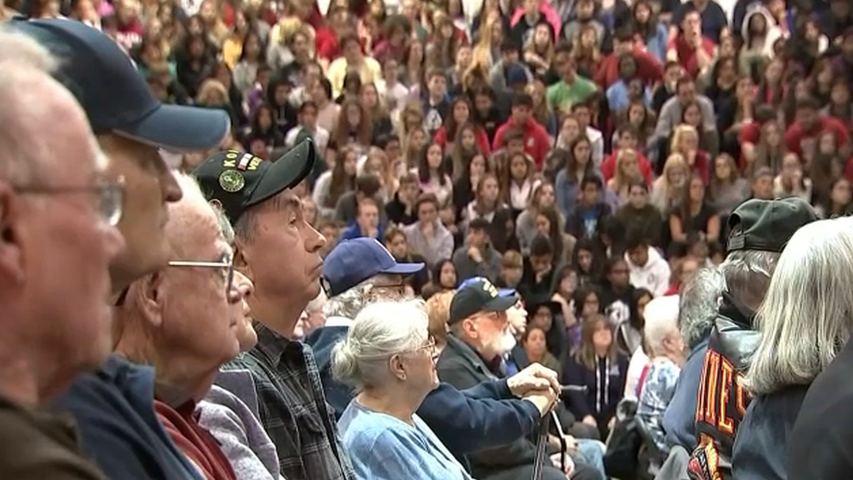 Mundelein High School Assembly Honors Veterans